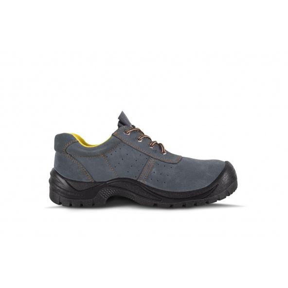 Zapatos de trabajo de serraje perforado P2501 Gris workteam 4