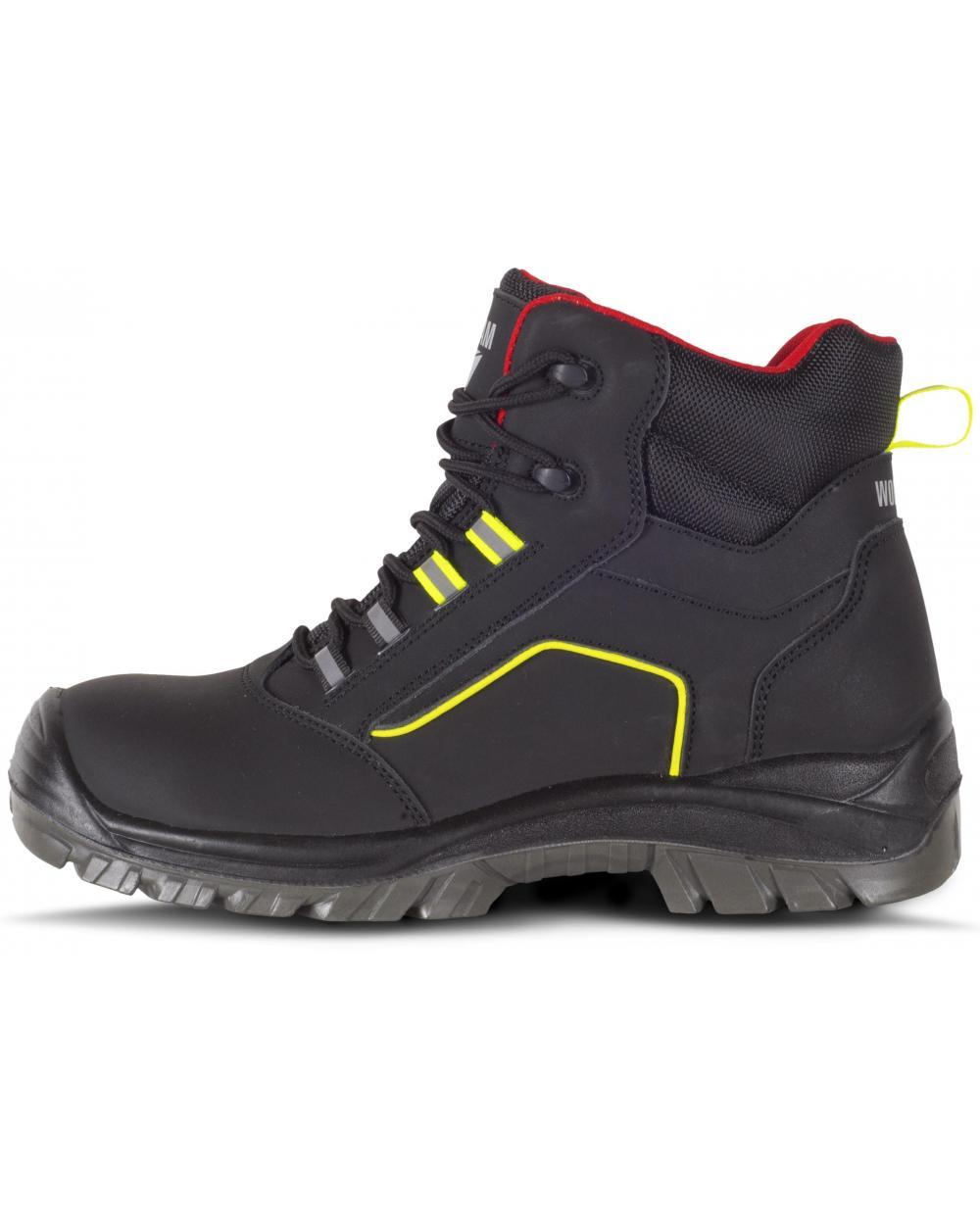 Comprar Botas de trabajo libres de metal S3 P2901 Negro+Rojo+Amarillo AV workteam 1