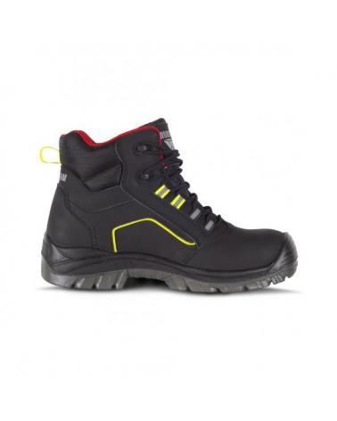 Botas de trabajo libres de metal S3 P2901 Negro+Rojo+Amarillo AV workteam 4