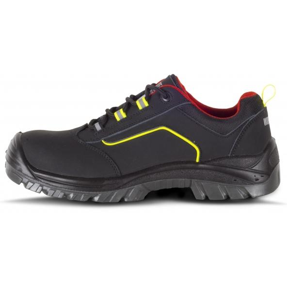 Comprar Zapatos de trabajo S3 libre de metal P2902 Negro+Rojo+Amarillo AV workteam 1