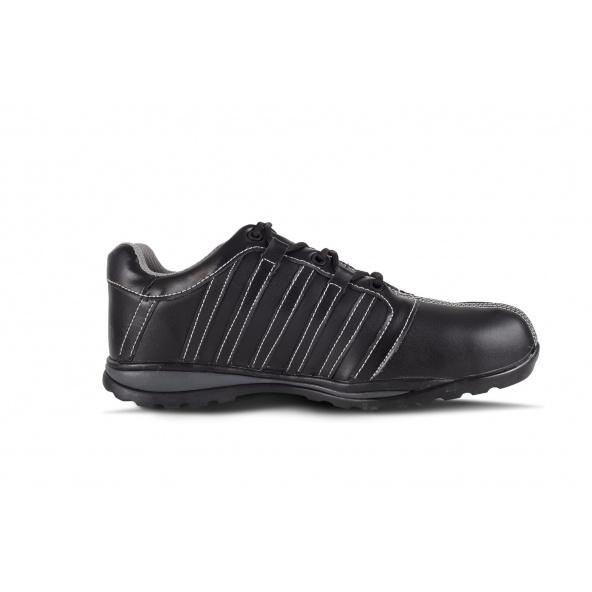 Zapatos de trabajo de piel S1+P P3006 Negro workteam 4