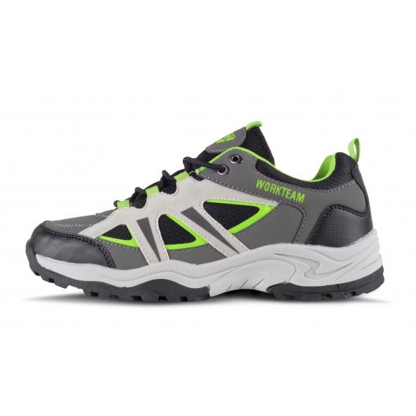 Comprar Zapatillas para trecking P4010 Gris+Negro+Verde Fluor workteam 1