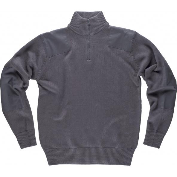 Comprar Jersey de algodon punto grueso S5502 Gris workteam delante