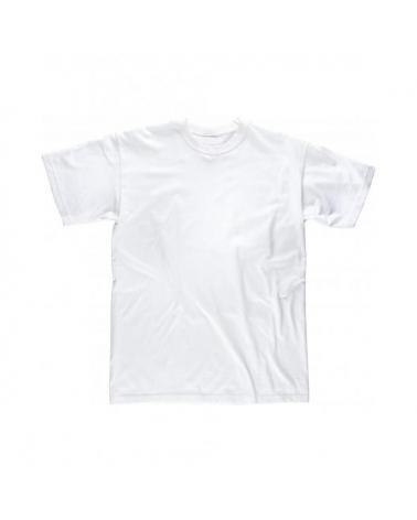 Comprar Camiseta blanca de algodon S6601 Blanco workteam delante