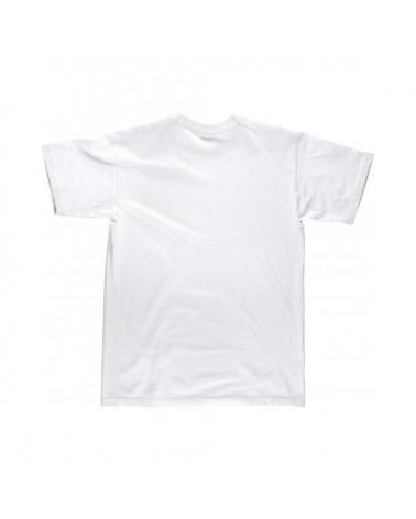 Camiseta blanca de algodon S6601 Blanco workteam atrás barato