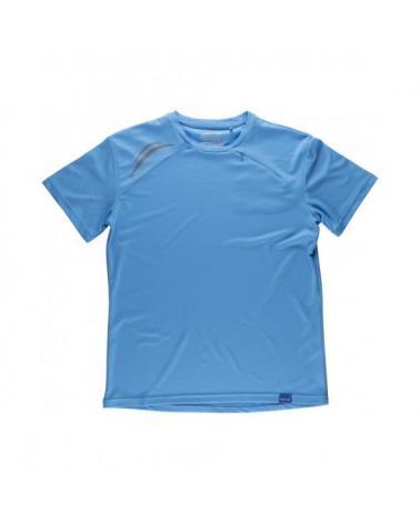 Comprar Camiseta tecnica S6611 Celeste workteam delante