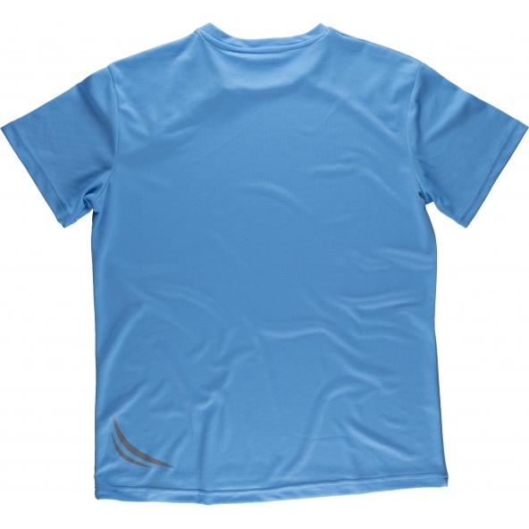 Camiseta tecnica S6611 Celeste workteam atrás barato