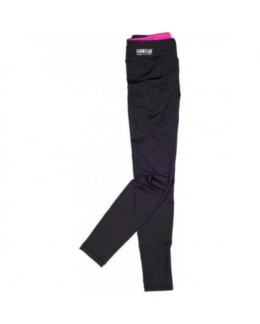 Comprar Leggin ajustados elasticos S7501 Negro+Rosa Fluor workteam delante