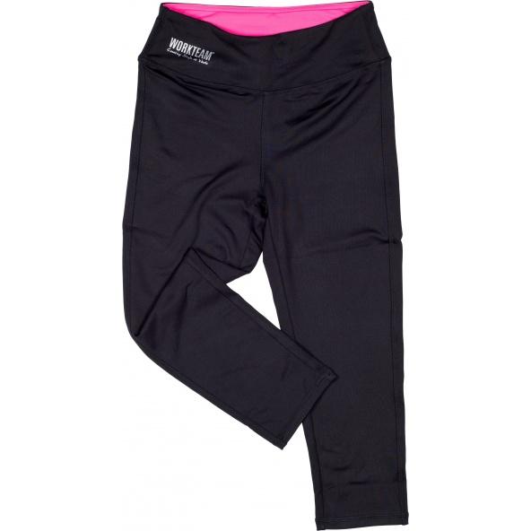 Comprar Leggin elasticos corte pirata S7502 Negro+Rosa Fluor workteam delante