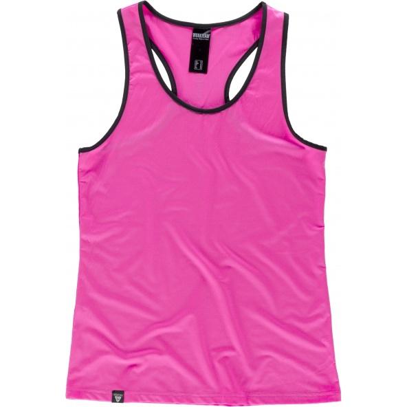 Comprar Camiseta deportiva para mujer S7520 Rosa Fluor workteam delante