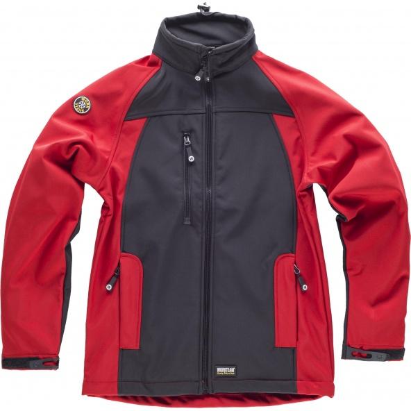 Comprar Workshell con membrana cortavientos S9040 Negro+Rojo workteam delante