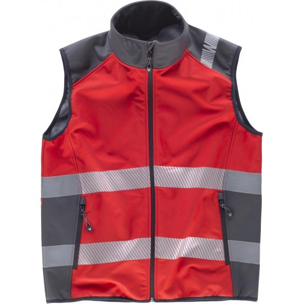 Comprar Chaleco workshell rojo alta visibilidad S9232 Rojo+Gris Oscuro workteam delante