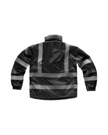 Parka impermeable con capucha S9263 Negro workteam atrás barato