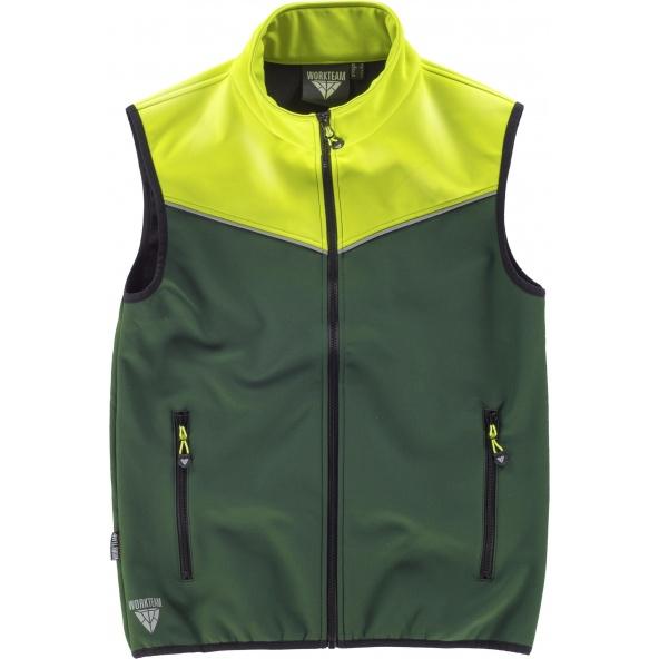 Comprar Chaleco de trabajo con colores Jonh Deere Verde y Amarillo AV