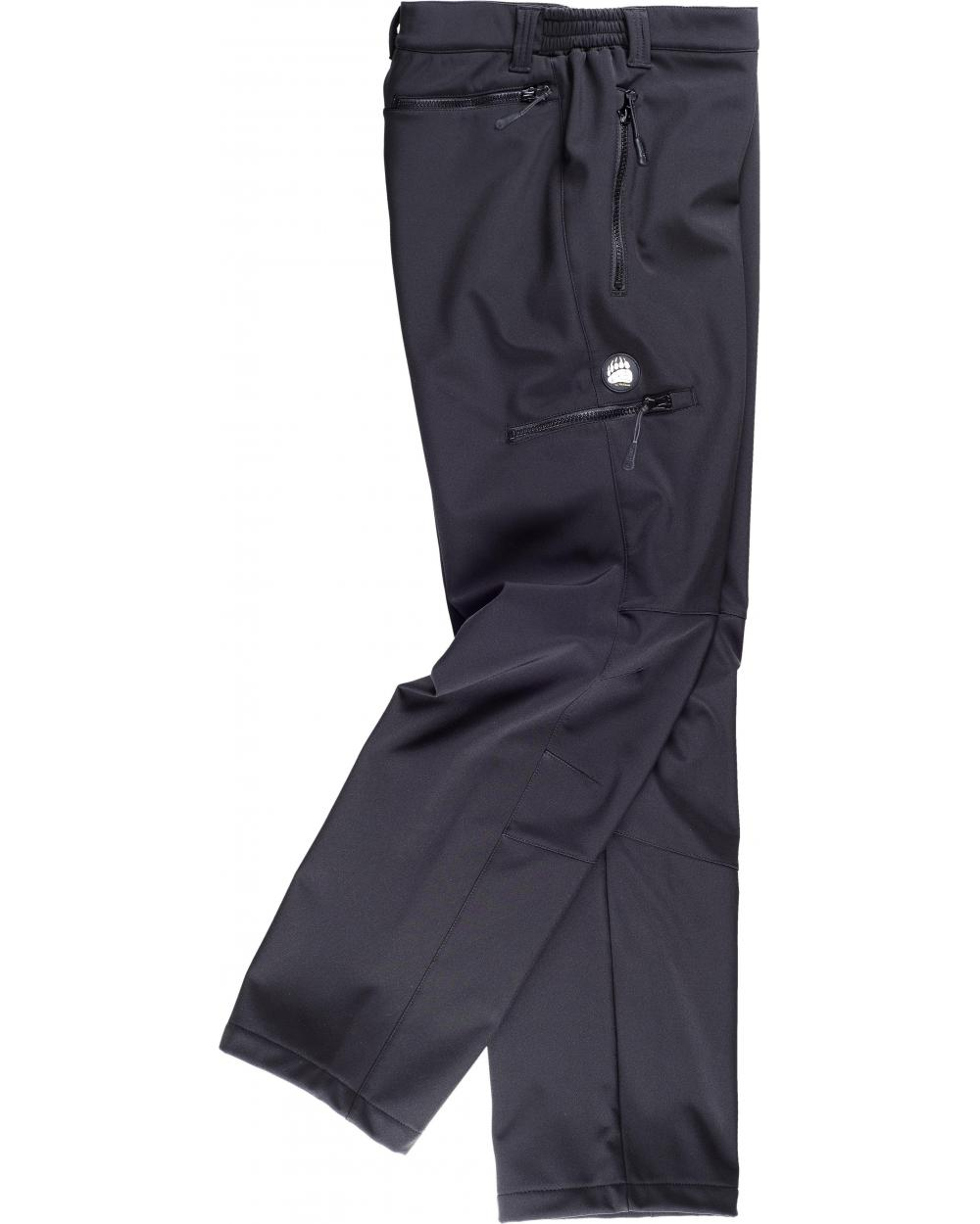 Comprar Pantalon Workshell diseño 'Slim Fit' S9830 Negro workteam barato