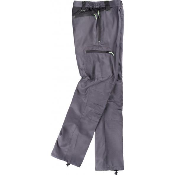 Comprar Pantalon con tejido viscosa S9880 Gris+Negro workteam barato