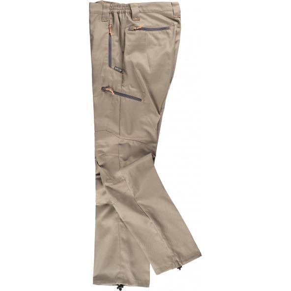 Comprar Pantalon con tejido viscosa S9885 Beige workteam barato