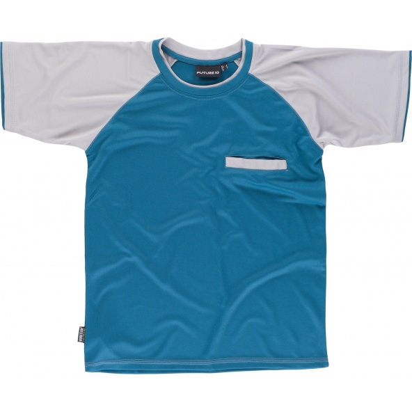 Comprar Camiseta combinada WF1016 Azafata+Gris Claro workteam delante