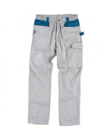 Comprar Pantalon combinado con refuerzos WF1050 Gris Claro+Azafata workteam delante