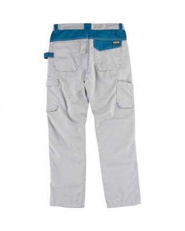 Pantalon combinado con refuerzos WF1050 Gris Claro+Azafata workteam atrás barato