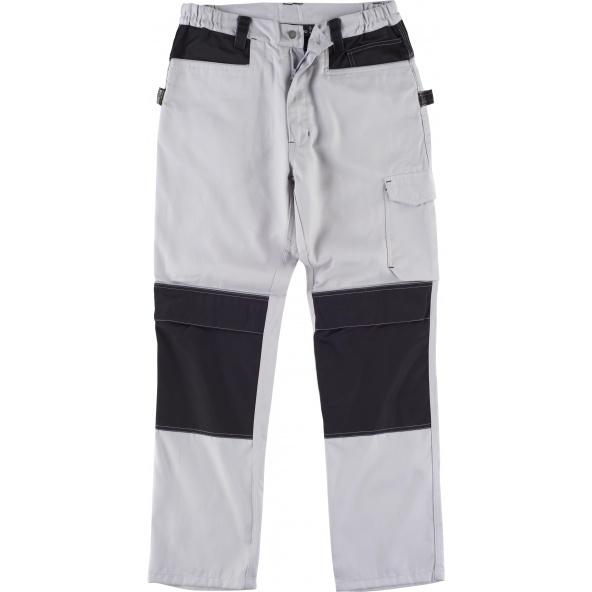 Comprar Pantalon con proteccion rodilleras WF1052 Gris Claro+Negro workteam delante
