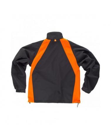 Chaqueta Workshell WF1640 Negro+Naranja AV workteam atrás barato