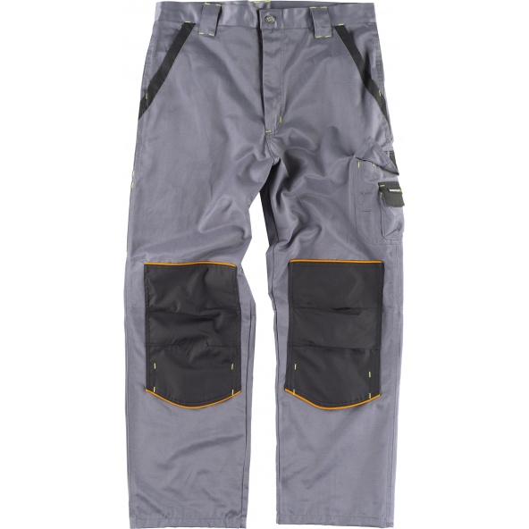 Comprar Pantalon antimanchas WF1903 Gris+Negro workteam delante