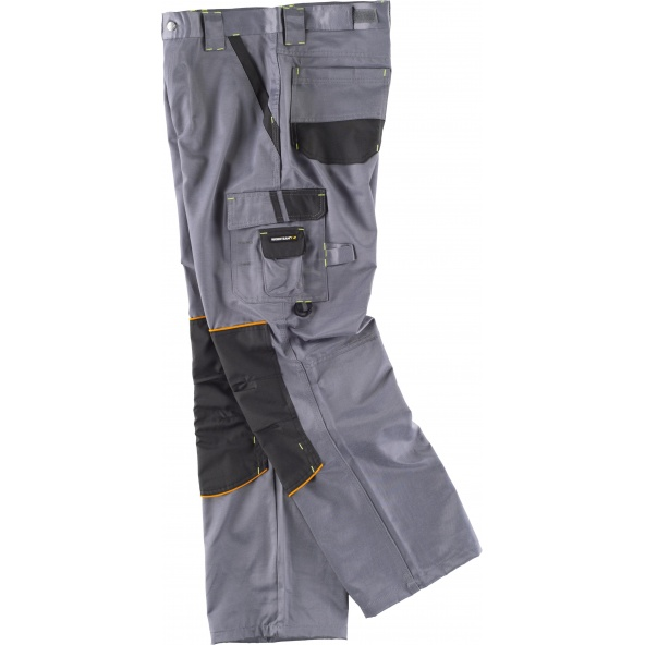 Pantalon antimanchas WF1903 Gris+Negro workteam lado