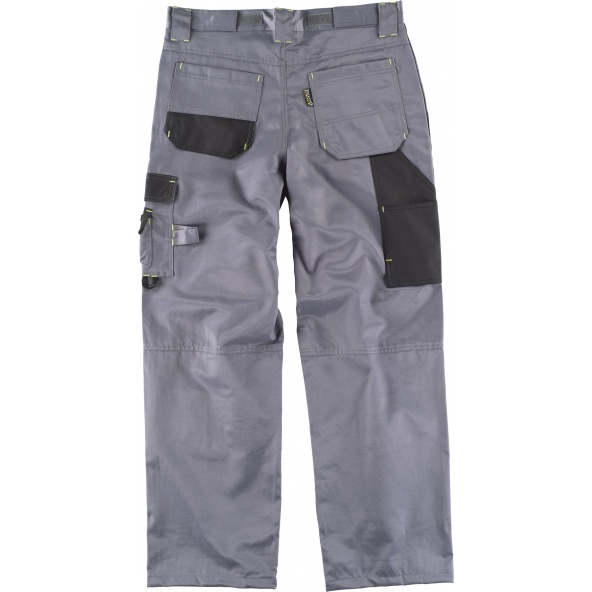 Pantalon antimanchas WF1903 Gris+Negro workteam atrás barato