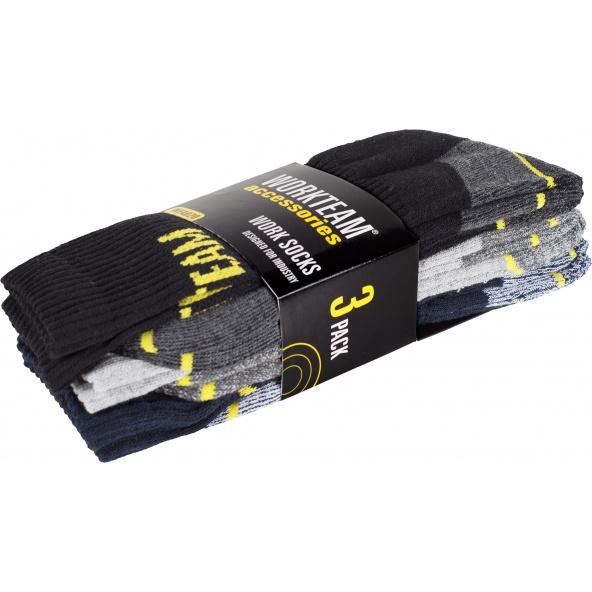 Comprar Calcetines de trabajo - pack de 3 pares WFA020 Negro+Marino+Gris Claro workteam barato