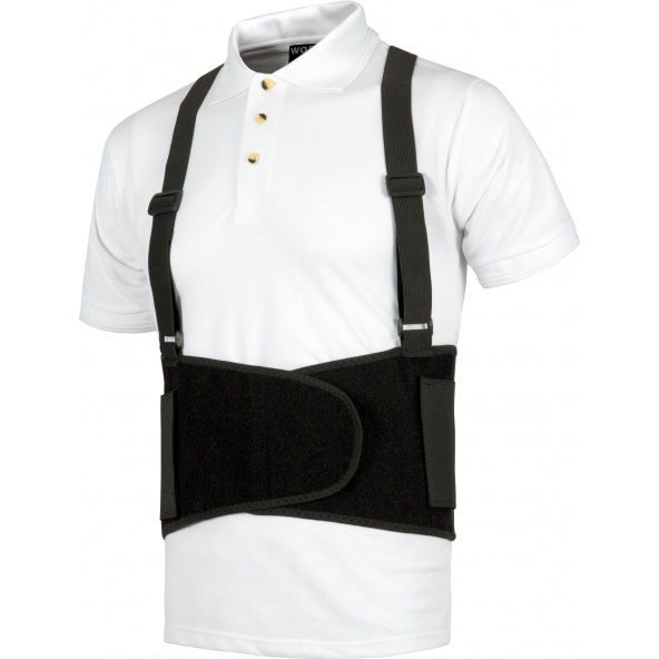 Comprar Faja lumbar elastica con tirantes WFA305 Negro workteam barato