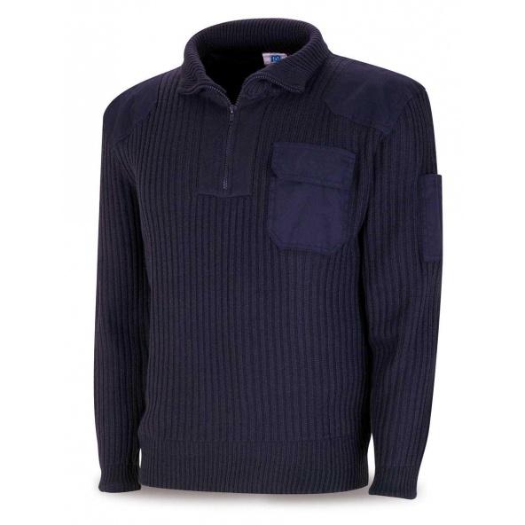 Comprar Jersey Con Cremallera Azul Marino 1288-Jca barato