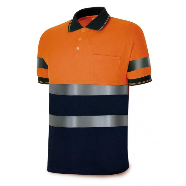 Comprar Polo Alta Visibilidad Azul Marino/Naranja Fluo 1288-Polfn/A barato