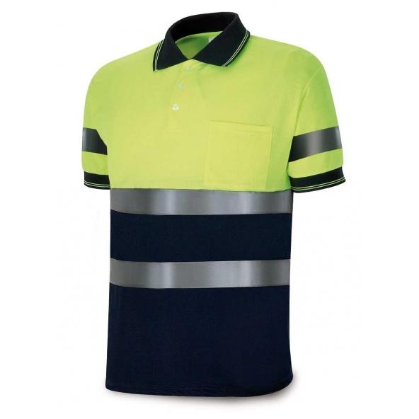 Comprar Polo Alta Visibilidad Azul Marino/Amarillo Fluor 1288-Polfy/A barato