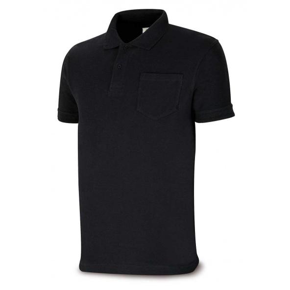 Comprar Polo Algodón Negro 1288-Poln barato