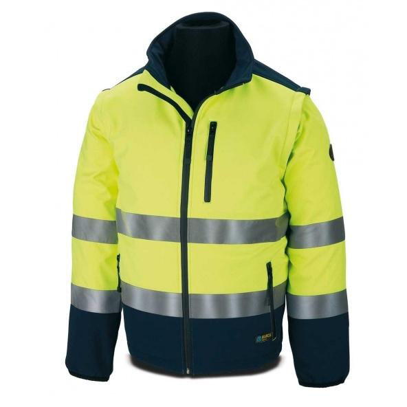 Comprar Cazadora Tipo Soft Shell Amarilla Azul 288-Csfy/A