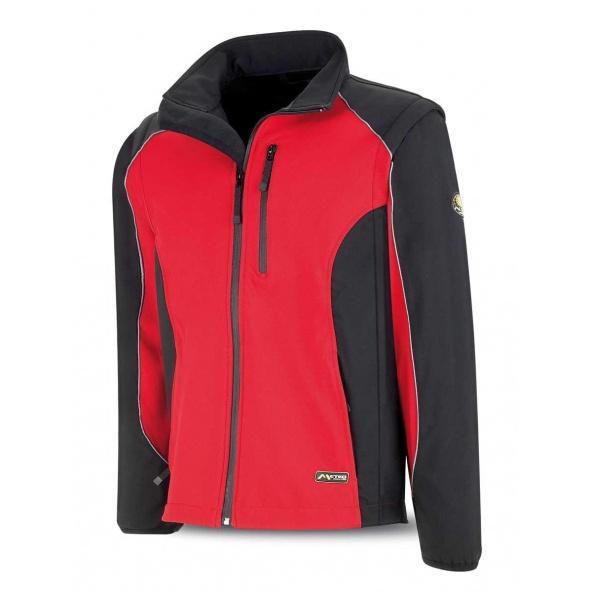 Comprar Cazadora Tipo Soft Shell Rojo Negro 288-Csr