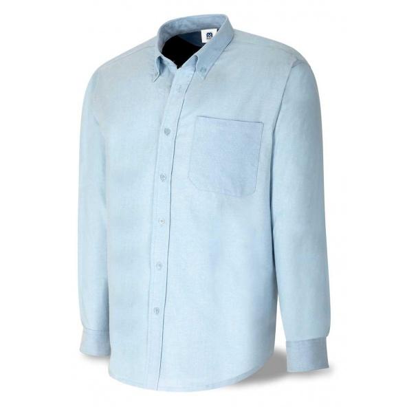 Comprar Camisa Algodón Oxford Azul 388-Coml barato