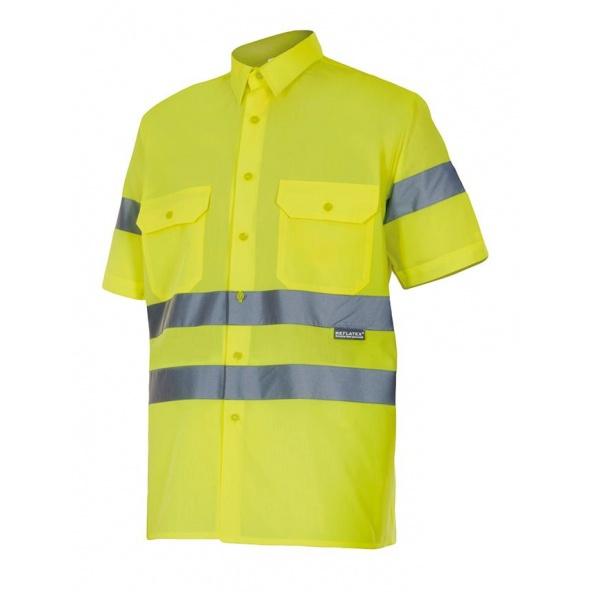 Comprar Camisa manga corta alta visibilidad serie 141 online barato Amarillo Fluor