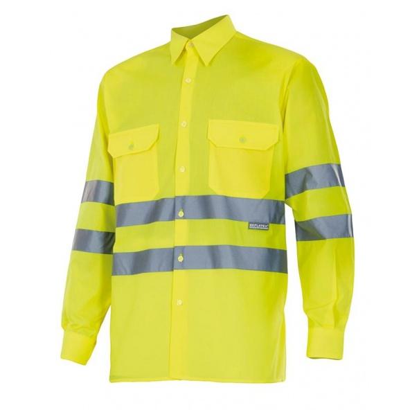 Comprar Camisa manga larga alta visibilidad serie 143 online barato Amarillo Fluor