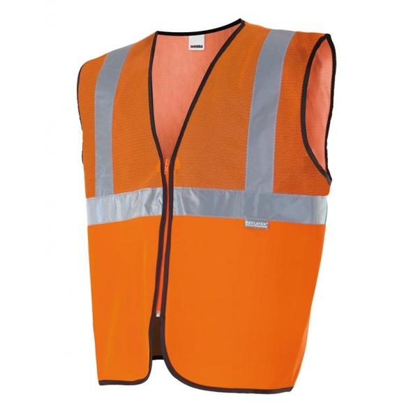 Comprar Chaleco con tejido de rejilla alta visibilidad serie 146 online barato Naranja Fluor