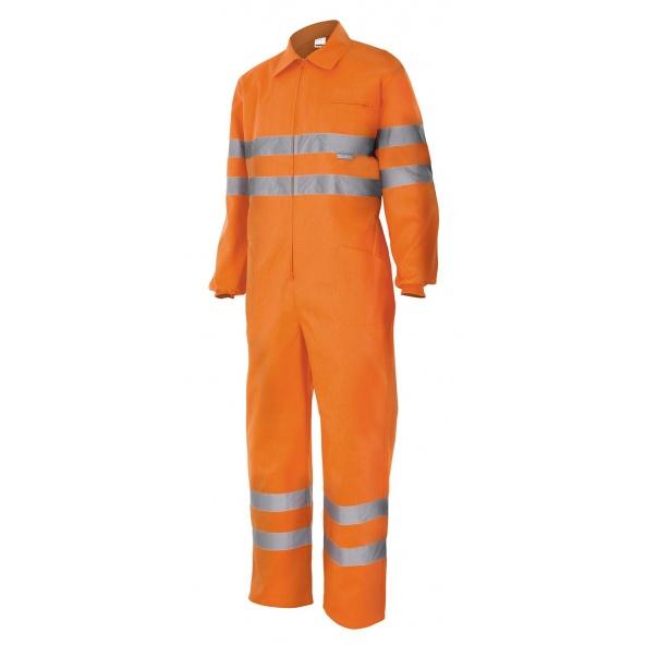 Comprar Mono de trabajo alta visibilidad serie 150 online barato Naranja Fluor