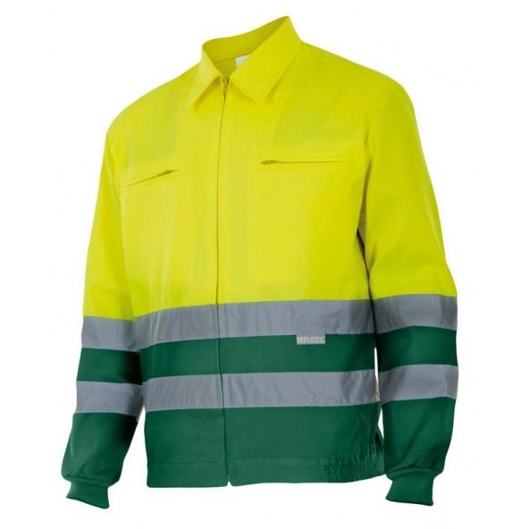 Comprar Cazadora bicolor alta visibilidad serie 153 online barato Sup Ama/Inf Ver