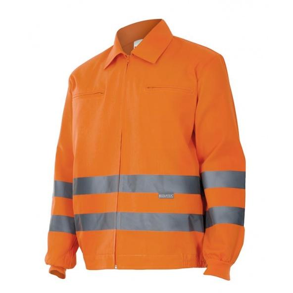 Comprar Cazadora laboral alta visibilidad serie 155 online barato Naranja Fluor