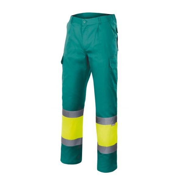 Comprar Pantalón bicolor alta visibilidad (tallas grandes) serie 157 online barato Sup Ver/Inf Ama