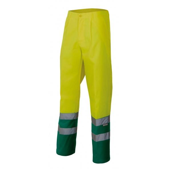Comprar Pantalón bicolor alta visibilidad serie 158 online barato Sup Ama/Inf Ver