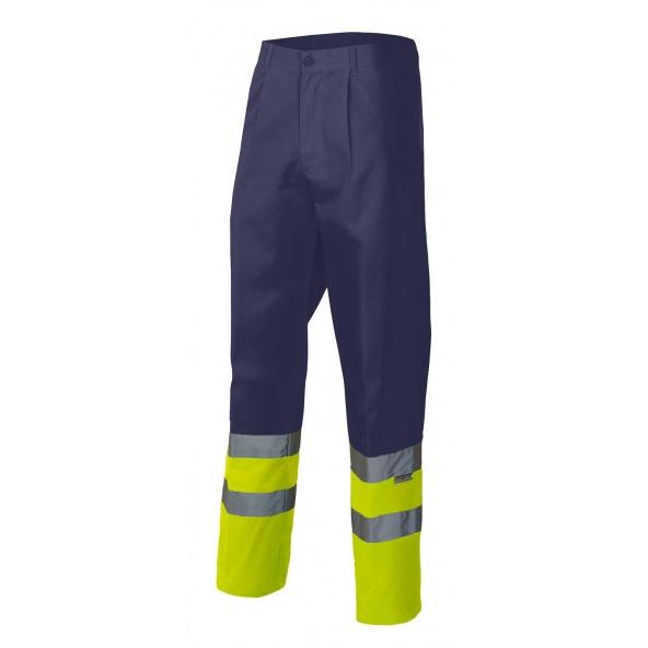Comprar Pantalón bicolor alta visibilidad serie 158 online barato Sup Mar/Inf Ama