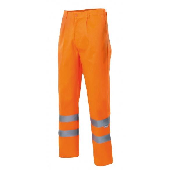 Comprar Pantalón multibolsillos alta visibilidad (tallas grandes) serie 160 online barato Naranja Fluor