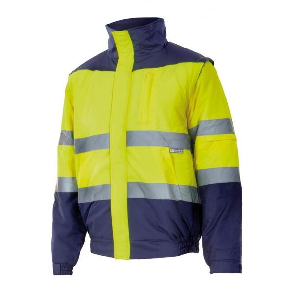 Comprar Cazadora desmontable alta visibilidad (tallas grandes) serie 161 online barato Sup Ama/Inf Marino