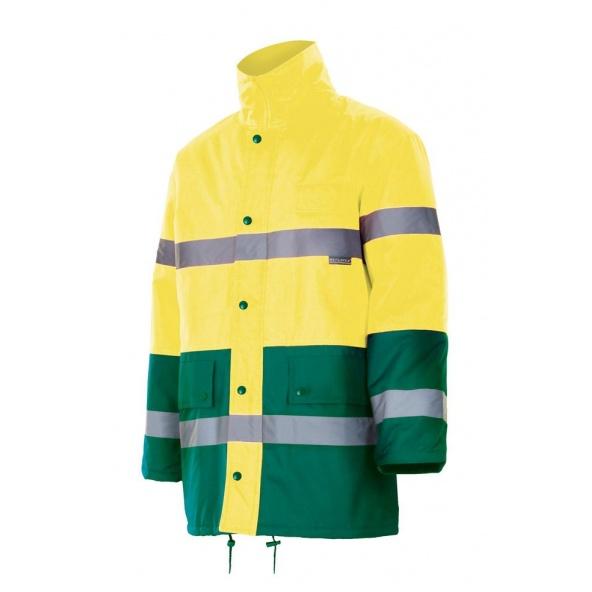 Comprar Parka bicolor impermeable alta visibilidad serie 166 online barato Sup Ama/Inf Ver